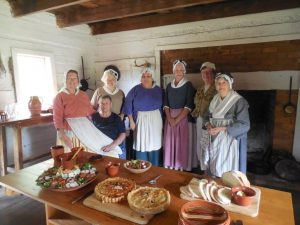 19th anniversary group photo of current and past cooks of the Historical Cooking Guild of the Catawba Valley