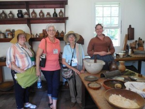 A few of us in a colonial kitchen at Colonial Williamsburg.